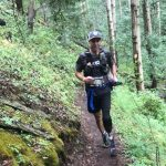 Ultra athlete Dave Mackey running on a trail